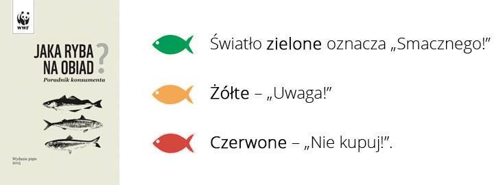 wybieraj ryby oznaczone zielonym światłem