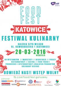 Plakat food fest festiwal wKatowicach