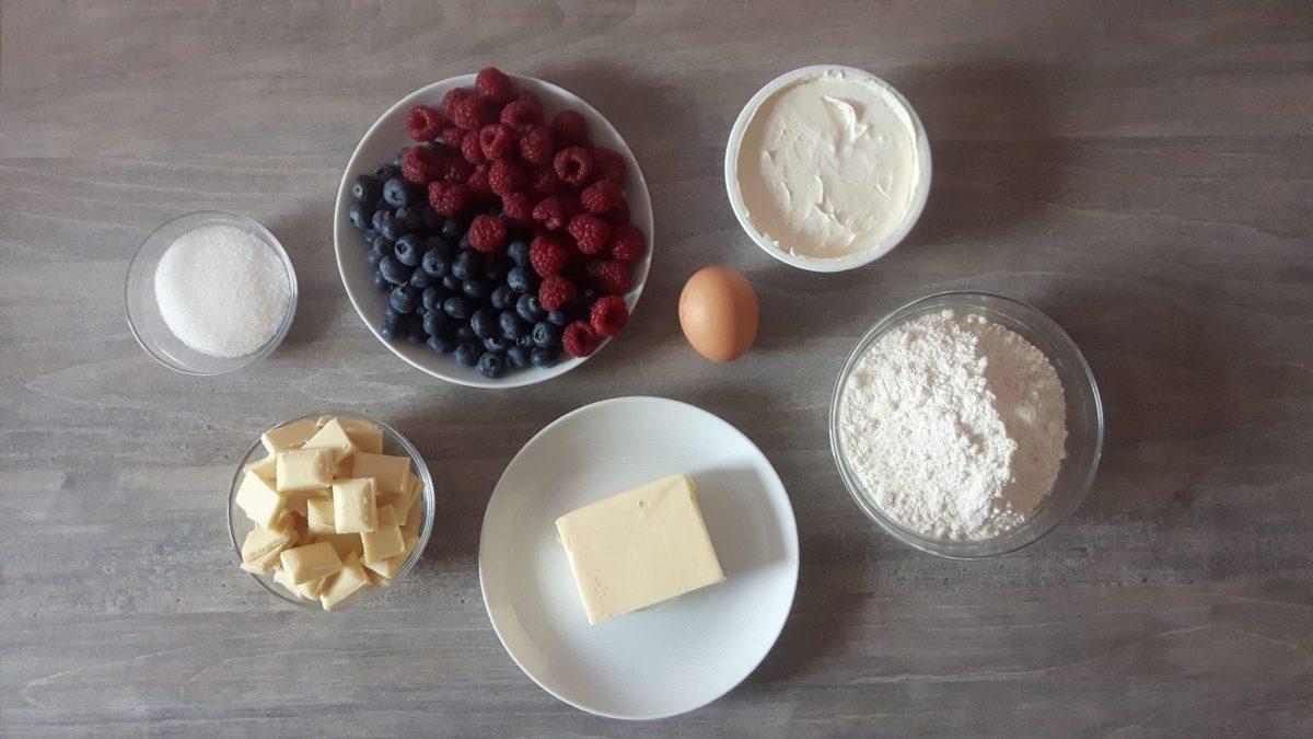 tarta zowocami - składniki