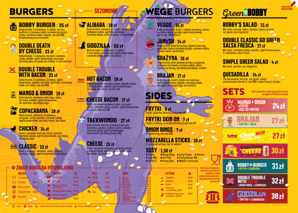 Menu Bobby Burger