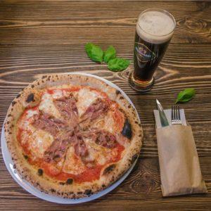 pizza z piwem