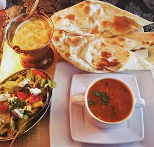 danie indyjskie placki